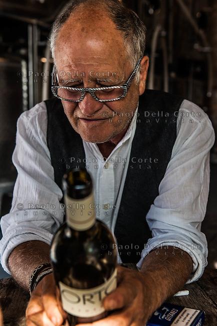 Venezia - Isola di Sant' Erasmo. Azienda &quot;Orto di Venezia&quot;.  Michel Thoulouze produttore di vino.<br /> Venice Sant'Erasmo Island. Michel Thoulouze wine producer at &quot;Orto di Venezia&quot;.