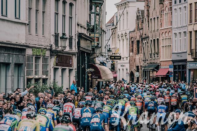 race start in the centre of Bruges.<br /> <br /> 2nd Elfstedenronde 2018<br /> 1 day race: Brugge - Brugge 196.3km