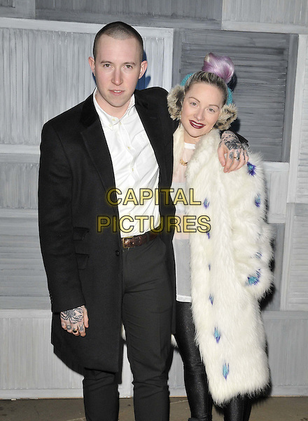 LONDON, ENGLAND - MARCH 09: Laurie Vincent of Slaves &amp; Emma Mulholland attend the Jamie Oliver &amp; Kevin Systrom 2nd annual London party, Barbecoa bar &amp; restaurant, One New Change, New Change, on Monday March 09, 2015 in London, England, UK. <br /> CAP/CAN<br /> &copy;CAN/Capital Pictures