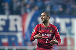 Guangzhou Forward Alan Douglas De Carvalho celebrating his score during the AFC Champions League 2017 Group G match Between Suwon Samsung Bluewings (KOR) vs Guangzhou Evergrande FC (CHN) at the Suwon World Cup Stadium on 01 March 2017 in Suwon, South Korea. Photo by Victor Fraile / Power Sport Images
