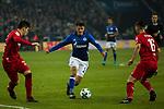 19.12.2017, Veltins-Arena , Gelsenkirchen, GER, DFB Pokal Achtelfinale, FC Schalke 04 vs 1. FC K&ouml;ln<br /> , <br /> <br /> im Bild | pictures shows:<br /> Alessandro Schoepf (FC Schalke 04 #28) gegen Dominique Heintz (1.FC Koeln #3) und Pawel Olkowski (1.FC Koeln #16), <br /> <br /> Foto &copy; nordphoto / Rauch