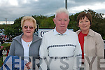 MASS: Nora and John Hussey from Cork/Ballyheigue and Mag Ahern, Lyrecrompane attending the mass at our Lady's Well in Ballyheigue on Monday for Pattern Day.   Copyright Kerry's Eye 2008