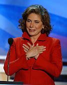Boston, MA - July 27, 2004 -- Theresa Heinz Kerry, wife of United States Senator John F. Kerry (Democrat of Massachusetts) speaks at the 2004 Democratic National Convention in Boston, Massachusetts on July 27, 2004..Credit: Ron Sachs / CNP