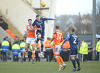 Blackpool's Ben Heneghan vies for possession with Walsall's Andy Cook<br /> <br /> Photographer Kevin Barnes/CameraSport<br /> <br /> The EFL Sky Bet League One - Blackpool v Walsall - Saturday 9th February 2019 - Bloomfield Road - Blackpool<br /> <br /> World Copyright © 2019 CameraSport. All rights reserved. 43 Linden Ave. Countesthorpe. Leicester. England. LE8 5PG - Tel: +44 (0) 116 277 4147 - admin@camerasport.com - www.camerasport.com