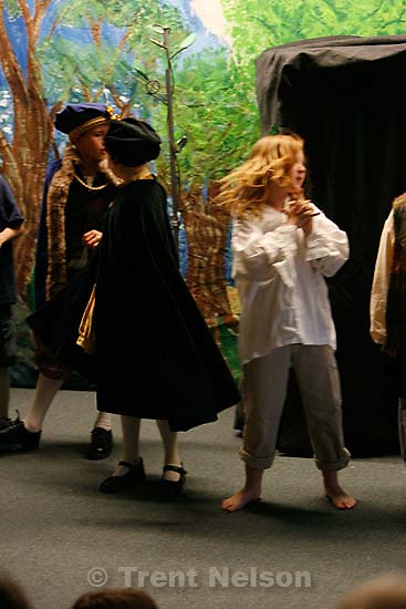 Noah's 5th grade class puts on The Tempest by Shakespeare.