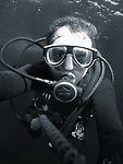 Orchid Island (蘭嶼), Taiwan -- Underwater explorer (yours truly) at Jichang Waijiao (機場外礁)