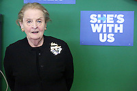 PHILADELPHIA, PA - OCTOBER 15 :  Former Secretary of State Madeleine Albright pictured campaigning for Hillary Clinton at the Northeast Philadelphia Coordinated Campaign Office in Philadelphia, Pa on October 15, 2016  photo credit  Star Shooter/MediaPunch