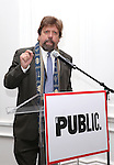 Oskar Eustis attending the Unveiling of the Revitalized Public Theater at Astor Place in New York City on 10/4/2012.