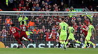 Liverpool's Divock Origi scores the opening goal <br /> <br /> Photographer Rich Linley/CameraSport<br /> <br /> UEFA Champions League Semi-Final 2nd Leg - Liverpool v Barcelona - Tuesday May 7th 2019 - Anfield - Liverpool<br />  <br /> World Copyright &copy; 2018 CameraSport. All rights reserved. 43 Linden Ave. Countesthorpe. Leicester. England. LE8 5PG - Tel: +44 (0) 116 277 4147 - admin@camerasport.com - www.camerasport.com