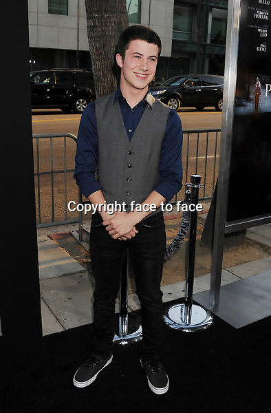 BEVERLY HILLS, CA- SEPTEMBER 12: Actor Dylan Minnette arrives at the 'Prisoners' - Los Angeles Premiere at the Academy of Motion Picture Arts and Sciences on September 12, 2013 in Beverly Hills, California.<br />