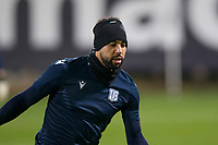 8th November 2019; Dens Park, Dundee, Scotland; Scottish Championship Football, Dundee Football Club versus Dundee United; Kane Hemmings of Dundee during the warm up before the match  - Editorial Use