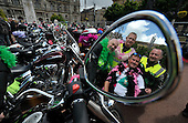Breast Way Round - a group (which included some 150 men and women bikers clad mainly in Pink Bra's) set up by Shirley Ann Barnes to raise money for cancer charities - ended their round Scotland tour in Glasgow's George Square - Picture by Donald MacLeod - 30.05.11 - 07702 319 738 - www.donald-macleod.com - clanmacleod@btinternet.com