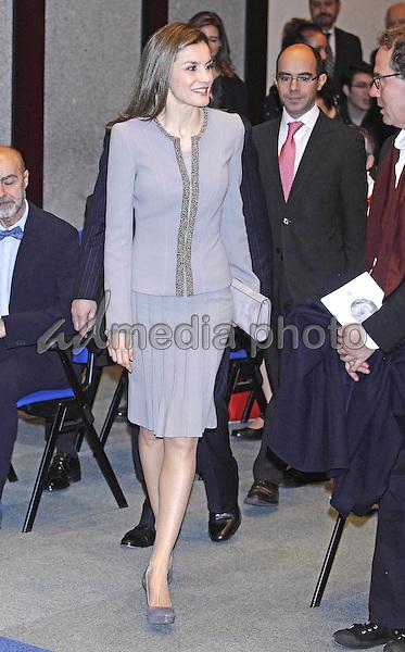 20 January 2017 - Madrid, Spain - Queen Letizia during the 'Tomas Francisco Prieto' awards at Casa de La Moneda. Photo Credit: PPE/Thorton/AdMedia