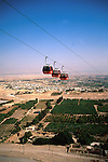 Palestinian territories, Jordan Valley, Jericho, the Cable car to the Mount of Temptation