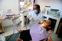 MADAGASCAR Antananarivo , dentist clinic, patient during check-up