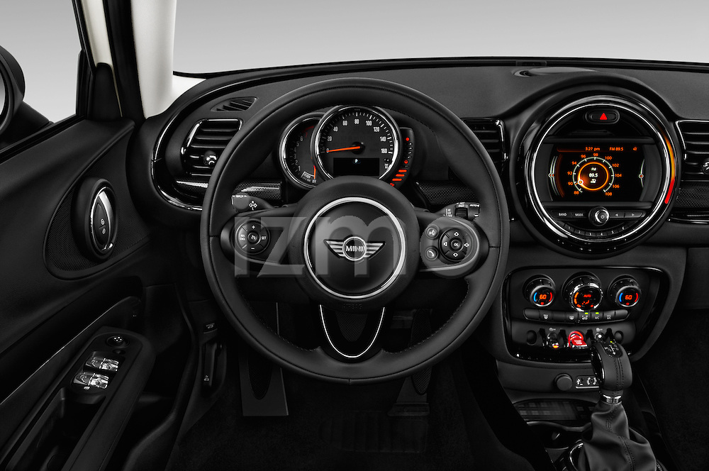 Car pictures of steering wheel view of a 2016 MINI CLUBMAN Cooper 5 Door wagon Steering Wheel