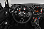 Car pictures of steering wheel view of a 2018 MINI CLUBMAN Cooper 5 Door wagon Steering Wheel