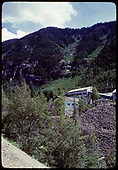 Silver Bell Mill and Mine buildings and tailings at Ophir.<br /> Ophir, CO  ca. 1976