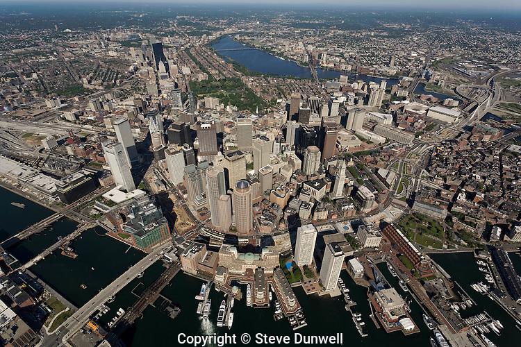 aerial views downtown Boston, MA