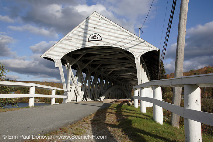 Groveton Covered Bridge during the autumn months. Located in Groveton, New Hampshire, USA .