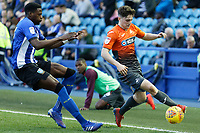 Daniel James of Swansea City (R) in action during the Sky Bet Championship match between Sheffield Wednesday and Swansea City at Hillsborough Stadium, Sheffield, England, UK. Saturday 23 February 2019