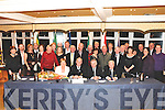 Munster Council Appointment: Sean Walsh (seated second left) from Moyvane pictured with his wife Patricia and Christy Cooney, President of the GAA and family & friends after his appointment as Chairman of the Munster Council , GAA at the Listowel Arms Hotel in Listowel on Friday night last. Sean is the fifth Kerryman to hold this position and it was  the first time that the  AGM of the Munster Council was held in Listowel