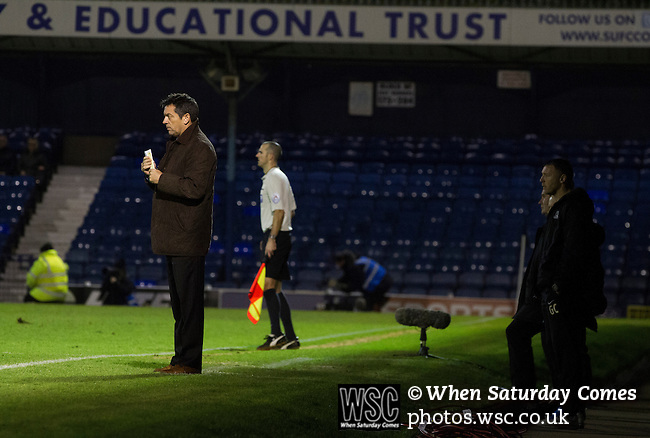 Southend United 1 Burton Albion 1, 22/02/2016. Roots Hall, League One. Home manager Phil Brown on the touchline during the first-half as Southend United took on Burton Albion in a League 1 fixture at Roots Hall. Founded in 1906, Southend United moved into their current ground in 1955, the construction of which was funded by the club's supporters. Southend won this match by 3-1, watched by a crowd of 6503. Photo by Colin McPherson.