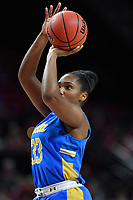 College Park, MD - March 25, 2019: UCLA Bruins forward Lauryn Miller (33) shots a jumps a shot during second round game of NCAAW Tournament between UCLA and Maryland at Xfinity Center in College Park, MD. UCLA advanced to the Sweet 16 defeating Maryland 85-80.(Photo by Phil Peters/Media Images International)