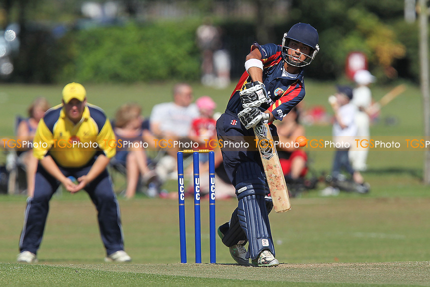 Rehan Hassan in batting action for Essex - Upminster CC vs Essex CCC - Graham Napier Benefit Match Cricket at Upminster Park - 09/09/12 - MANDATORY CREDIT: Gavin Ellis/TGSPHOTO - Self billing applies where appropriate - 0845 094 6026 - contact@tgsphoto.co.uk - NO UNPAID USE.