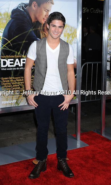 "HOLLYWOOD, CA. - February 01: Max Ehrich arrives at the ""Dear John"" World Premiere held at Grauman's Chinese Theatre on February 1, 2010 in Hollywood, California."