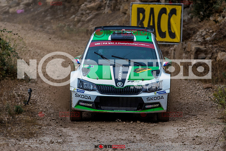 KOPECKY Jan / DRESLER Pavel ( SKODA Fabia R5) during the World Rally Car RACC Catalunya Costa Dourada 2016 / Rally Spain, in Catalunya, Spain. October 15, 2016. (ALTERPHOTOS/Rodrigo Jimenez) NORTEPHOTO.COM
