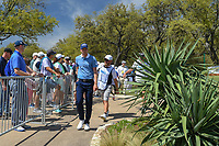 Daniel Berger (USA) departs the 10th tee during round 1 of the World Golf Championships, Dell Match Play, Austin Country Club, Austin, Texas. 3/21/2018.<br /> Picture: Golffile | Ken Murray<br /> <br /> <br /> All photo usage must carry mandatory copyright credit (&copy; Golffile | Ken Murray)