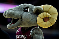 Washington, DC - MAR 7, 2018: Fordham Rams mascot during game between G.W. and Fordham during first round action of the Atlantic 10 Basketball Tournament at the Capital One Arena in Washington, DC. (Photo by Phil Peters/Media Images International)