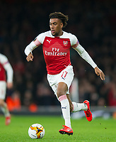 Arsenal's Alex Iwobi during the UEFA Europa League match between Arsenal and Rennes at the Emirates Stadium, London, England on 14 March 2019. Photo by Andrew Aleksiejczuk / PRiME Media Images.