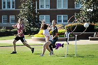 Students play Quidditch on the Drill Field as part of the &quot;Quidditch for Muggles&quot; First-Year Experience Seminar.<br />  (photo by Megan Bean / &copy; Mississippi State University)