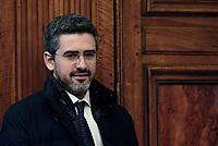 Roma, 17 Gennaio 2019<br /> Riccardo Fraccaro.<br /> Conferenza stampa al termine del Consiglio dei Ministri che ha approvato il decreto legge su Reddito di cittadinanza e pensioni