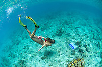 Katy Day snorkeling<br /> The underwater trail <br /> Trunk Bay<br /> Virgin Islands National Park<br /> St. John, U.S. Virgin Islands