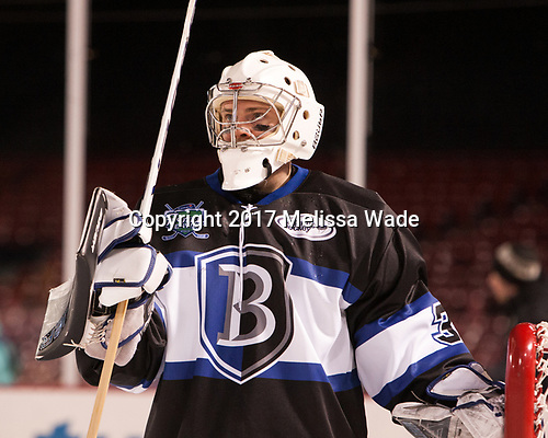 Jayson Argue (Bentley - 32) - The Bentley University Falcons defeated the Army West Point Black Knights 3-1 (EN) on Thursday, January 5, 2017, at Fenway Park in Boston, Massachusetts.The Bentley University Falcons defeated the Army West Point Black Knights 3-1 (EN) on Thursday, January 5, 2017, at Fenway Park in Boston, Massachusetts.