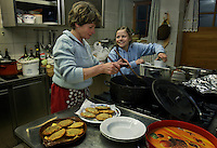 Monika  Vallazza helps her mother in the restaurant in the Ladino community in northern Italy.  The locals still have a language of their own.<br />  Her parents have cows and restaurant in the Ladino community..La Valle  (BZ)
