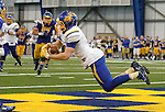 BROOKINGS, SD - APRIL 23:  Alex Wilde #10 from South Dakota State hauls in a pass for a touchdown during their Spring Game Saturday afternoon at the Sanford Jackrabbit Athletic Complex in Brookings.  (Photo by Dave Eggen/Inertia)