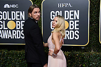 Golden Globe nominee Kristin Bell (R) and Dax Shepard attends the 76th Annual Golden Globe Awards at the Beverly Hilton in Beverly Hills, CA on Sunday, January 6, 2019.<br /> *Editorial Use Only*<br /> CAP/PLF/HFPA<br /> Image supplied by Capital Pictures