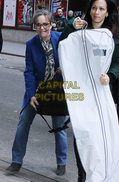NEW YORK, NY - FEBRUARY 16: Sally Field seen arriving to The Late Show With Stephen Colbert in New York City on February 16, 2017. <br /> CAP/MPI/RW<br /> &copy;RW/MPI/Capital Pictures