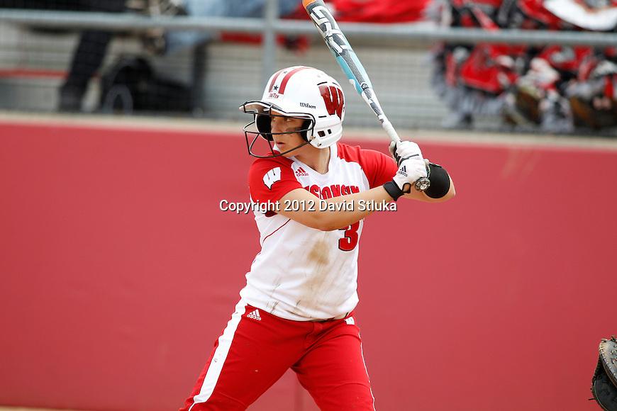 Wisconsin Badgers women's softball vs Michigan Wolverines on Saturday, May 5th, 2012. (Photo by David Stluka)