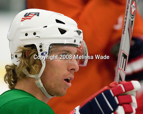"David Booth (USA 7 - Florida Panthers/Michigan State) - Team USA practiced and then held a skate with the fans to benefit ""Opportunity Skate"" at the Family Ice Center in Falmouth, Maine on Saturday, April 26, 2008."