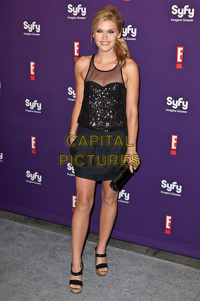 Emily Rose.SyFy and E! Comic-Con Party held at Hotel Solamar, San Diego, California, USA..July 23rd, 2011.full length black dress clutch bag.CAP/ADM/ES.©Emiley Schweich/AdMedia/Capital Pictures.