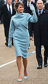 United States First Lady Melania Trump walk in the inaugural parade after President Trump was sworn-in as the 45th President in Washington, D.C. on January 20, 2017.     <br /> Credit: Kevin Dietsch / Pool via CNP