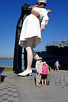 USS Midway and WWII Sailor Kissing Girl Statue