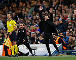 Diego Simeone manager of Atletico Madrid reacts to a decision on the touchline during the Champions League Group C match at the Stamford Bridge, London. Picture date: December 5th 2017. Picture credit should read: David Klein/Sportimage