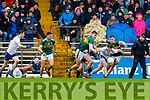 Sean O'Shea  and Dara Moynihan Kerry in action against Dessie Mone Monaghan during the Allianz Football League Division 1 Round 5 match between Kerry and Monaghan at Fitzgerald Stadium in Killarney, on Sunday.