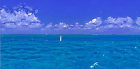 Marathon Florida Keys, Waterway, Panorama, CGI Backgrounds, ,Beautiful Background
